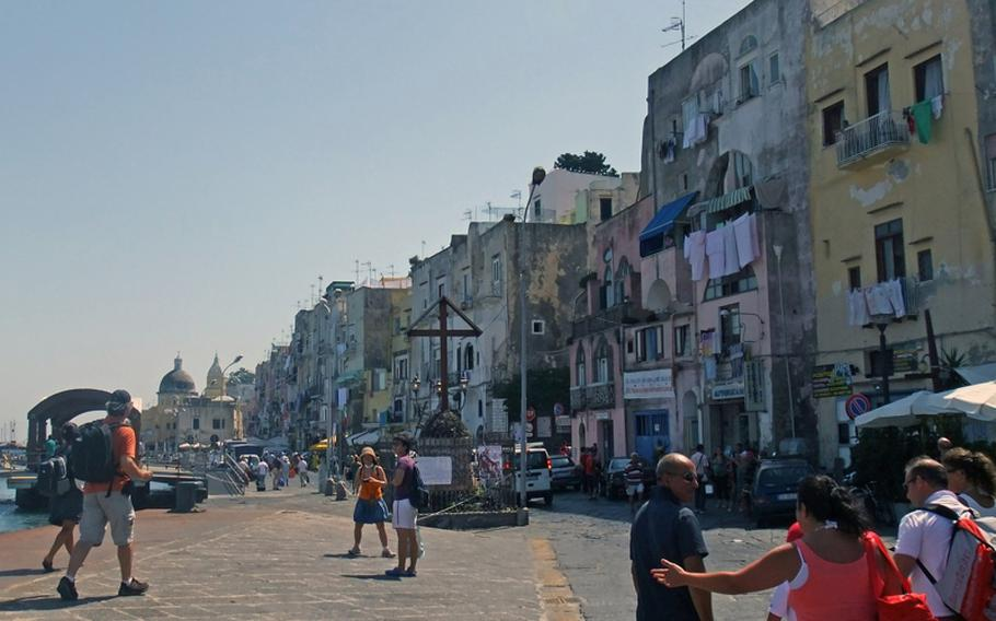 Aug. 20, 2011 Once off the ferry, the Procida waterfront is a mix of quaint cafes, shops and residences, perfect for an afternoon stroll.