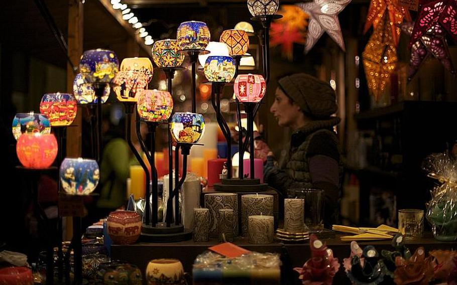 Crafts and Christmas trinkets are popular items for sale at the roughly 180 shop stalls at the market.