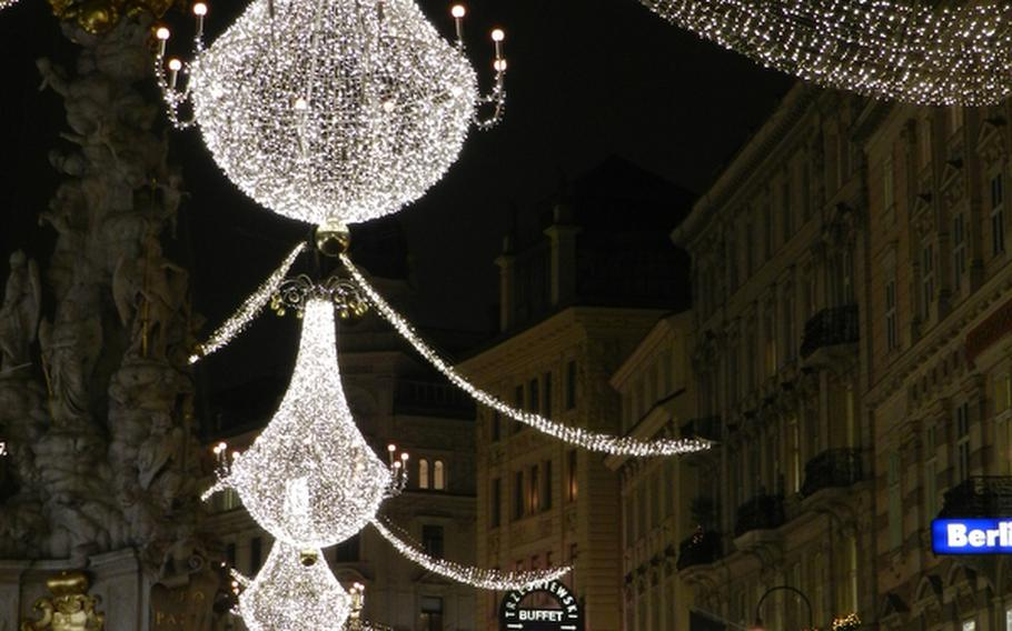How elegant can Christmas decorations get? Vienna, Austria, maintained its classy, sophisticated reputation with these decorations in 2011 along the Graben, one of the central pedestrian streets.
