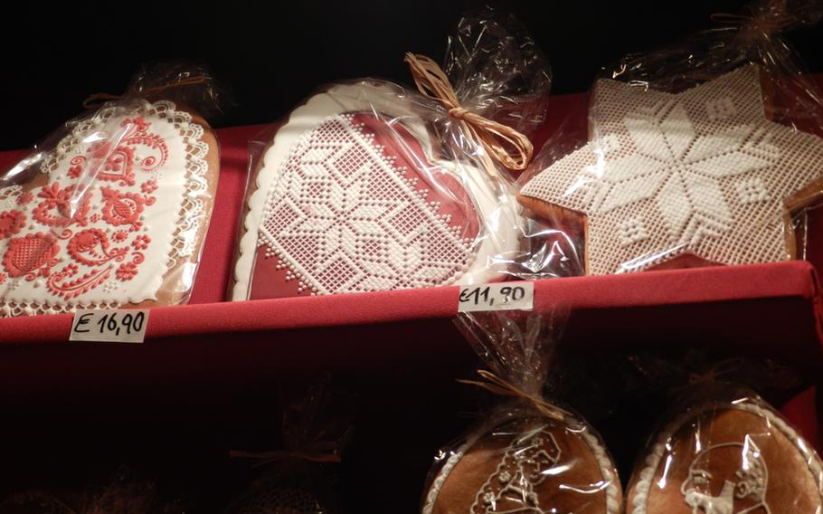 Even the cookies reflect an air of sophistication at the Christmas markets in Vienna, Austria. Some of them were so intricately decorated that they appeared to be wrapped in lace. These fancy cookies, made by a local artist, were sold at the market at Schönbrunn palace in 2011.
