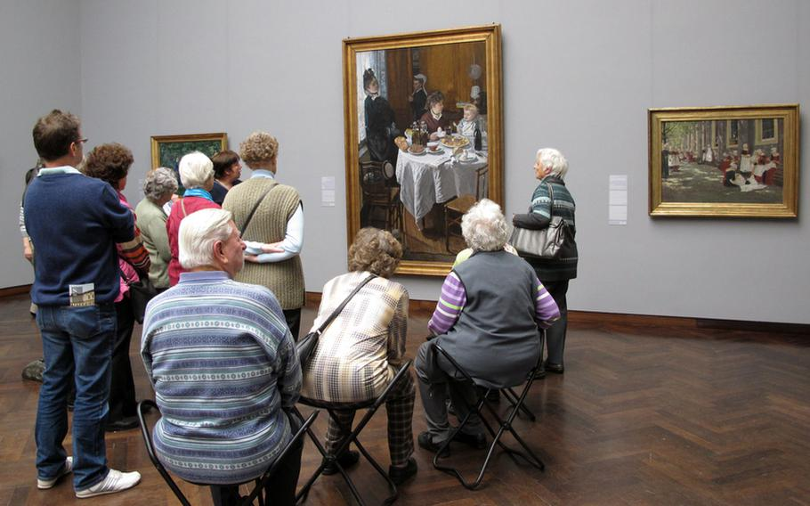 """A guided tour of Frankfurt, Germany's Städel Museum includes Claude Monet's """"The Luncheon."""""""