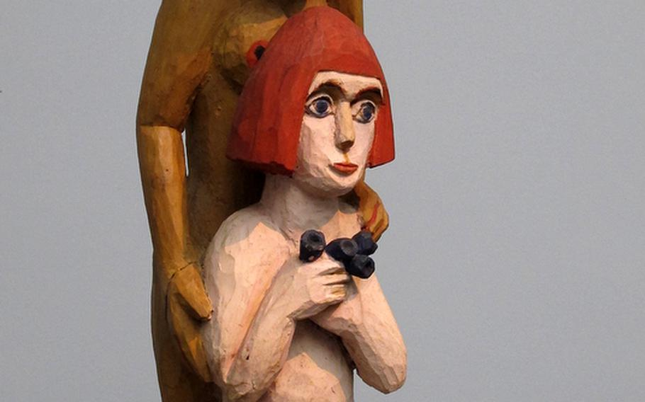"""Ernst Ludwig Kirchner's 1924 sculpture """"Mother and Child; Woman and Girl"""" is one of many works by the German artist at the Städel art museum in Frankfurt, Germany."""