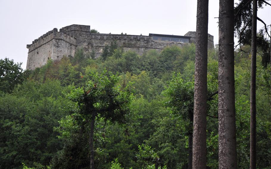 A view of Castle Landskron from Adventure Monkey Mountain in Villach, Austria. The castle has a birds of prey show that, combined with a visit to the monkey habitat, provides a day of up-close and personal encounters with animals.
