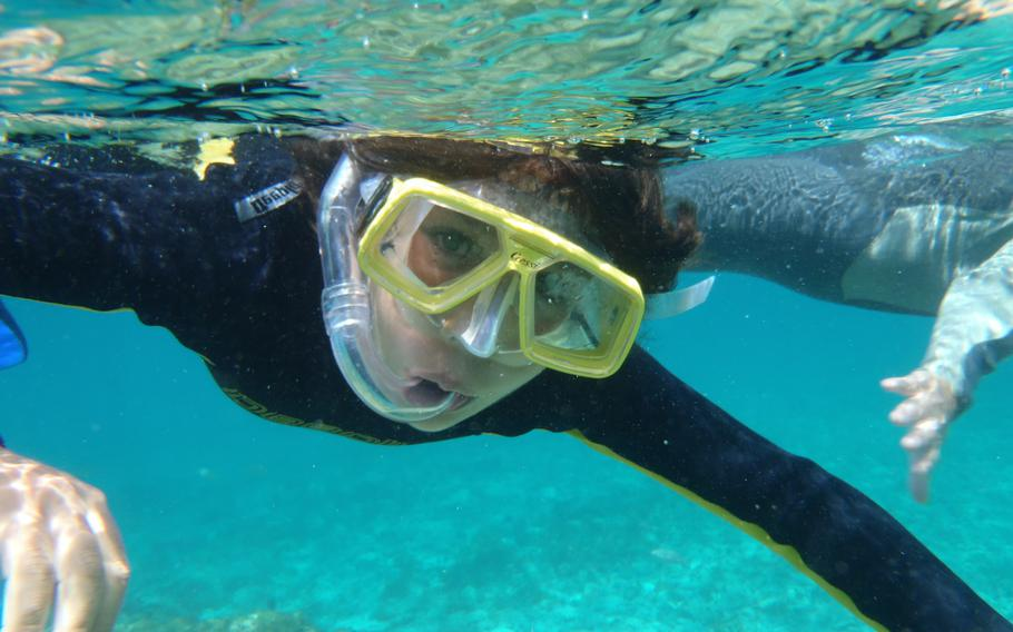 Clear blue waters off the island of Fuerteventura offer the perfect conditions for snorkeling.