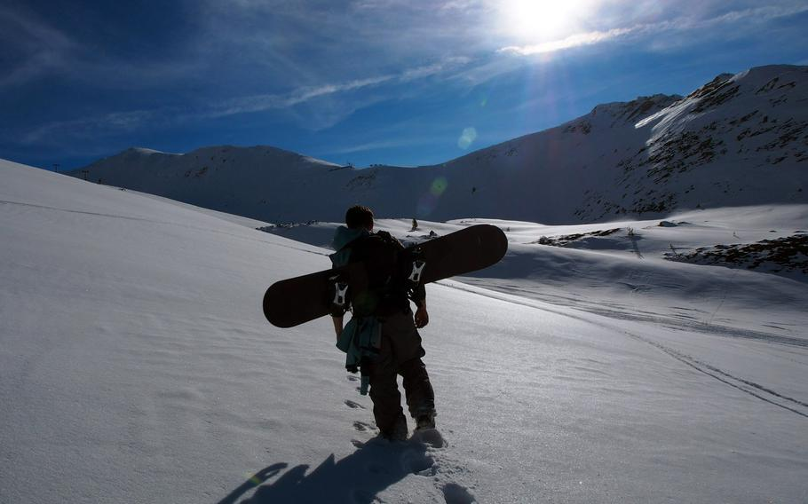 Hiking for turns at Brezovica, Kosovo, a majestic resort that's missing just one thing: running lifts. The lifts have been dormant for about a year, but for the adventurous, that means great ski touring and few to compete with for fresh tracks.