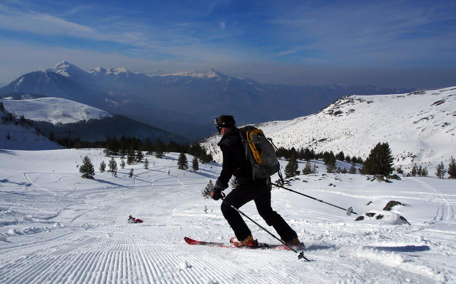 Wide-open bowls greet those willing to make the climb to the top at Brezovica resort in Kosovo.