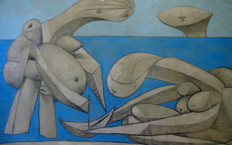 """This Pablo Picasso, titled """"On the Beach,"""" is from 1937. It is included in the Peggy Guggenheim Collection in Venice."""