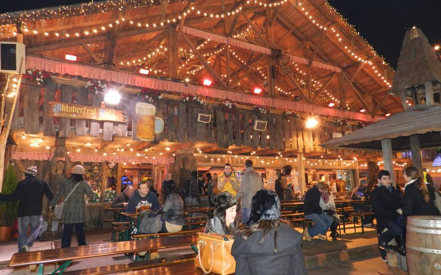 Germans, with their Oktoberfest beer hall and other attractions in in area called the Bavarian Village, had a huge presence at the Winter Wonderland Hyde Park.