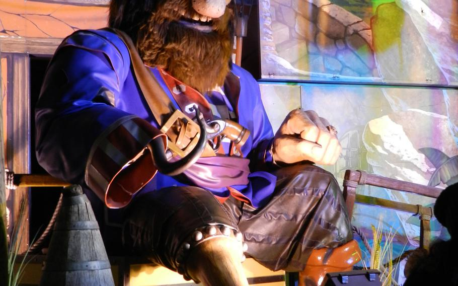 This pirate appears to be up to no good at an attraction at London's 2012 Winter Wonderland Hyde Park.
