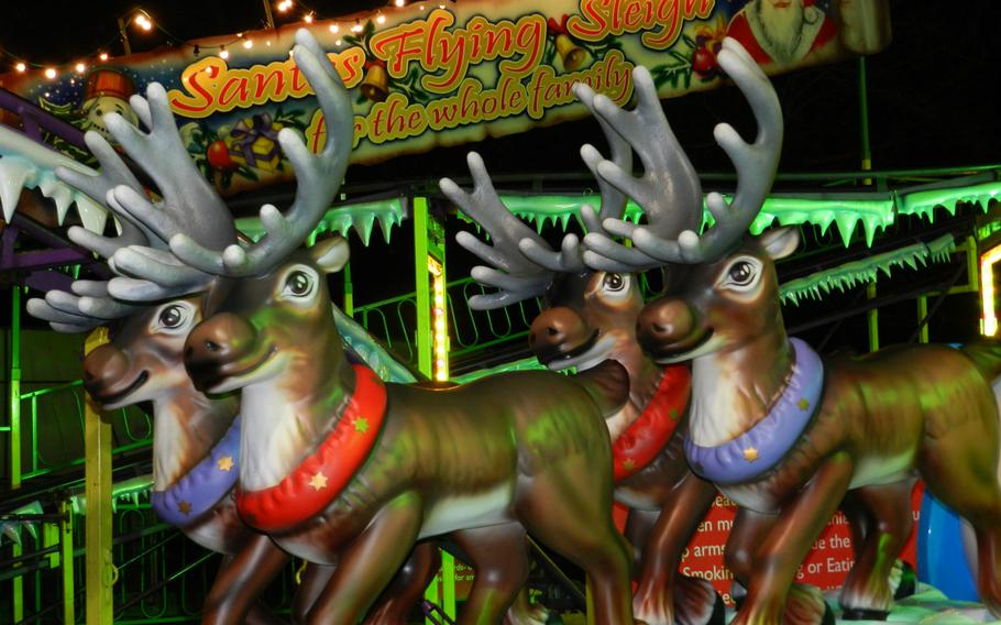 Reindeer really do fly --- at least they did at Hyde Park's Winter Wonderland last year.