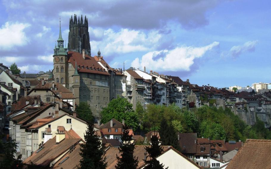 Fribourg, Switzerland, is an excellent base for treks to nearby cheese and chocolate factories.