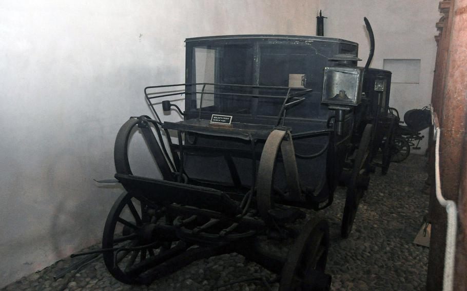 A museum (Museo Civico delle Carozze D'Epoca di Codroippo) dedicated to historical carriages is located about two miles from Villa Manin. But the villa has a handful of them, too.
