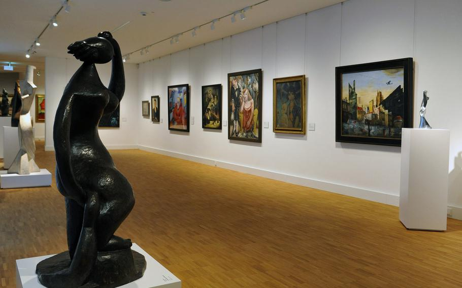 Twentieth century art on display at the Hesse State Museum in Darmstadt, Germany, includes works by Kirchner, Beckman, Kleinschmidt and Radziwill among others.