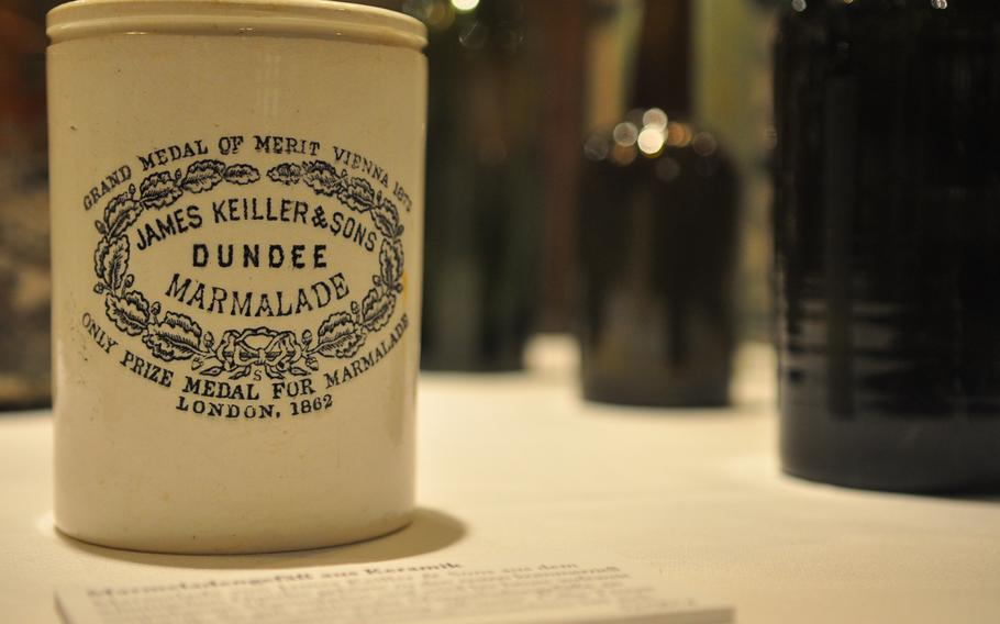 Many items retrieved from the Titanic's wreckage, like this 1862 pottery marmalade jar, remain in excellent condition despite remaining at the bottom of the sea for many years.