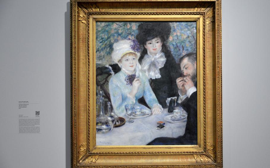 """August Renoir's """"After the Luncheon"""" is one of many impressionism's masterpieces on display in the """"Monet and the Birth of Impressionism"""" exhibit at the Städel in Frankfurt, Germany"""