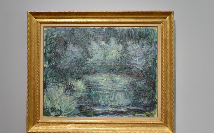 """Claude Monet's """"The Japanese Bridge"""" from his gardens in Giverny, France, is on display in the """"Monet and the Birth of Impressionism"""" exhibit at the Städel in Frankfurt, Germany"""