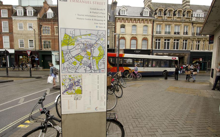 A tourist map serves as the starting point for Treasure Trails' tour of Cambridge, England. The tours - which send visitors on a search for clues to a mystery -  offer a creative way to see towns in the United Kingdom.