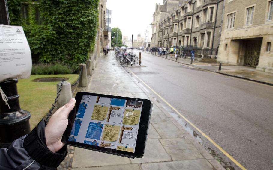 Treasure Trails' maps can be downloaded onto mobile devices and carried around towns. The guides offer trails of varying lengths for towns in the United Kingdom.