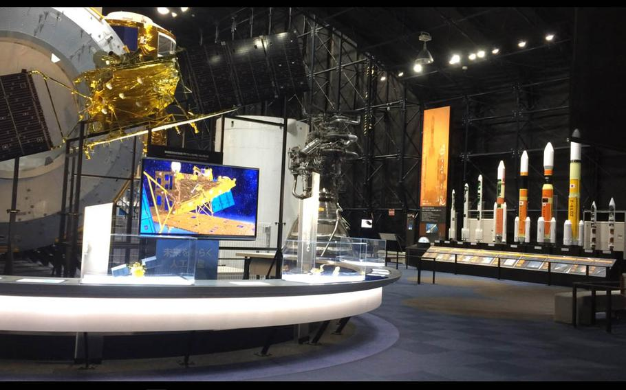 Inside the Tsukuba Space Center's Space Dome, visitors can check out models of satellites, rocket engines and a full-scale replica of the Kibo module.