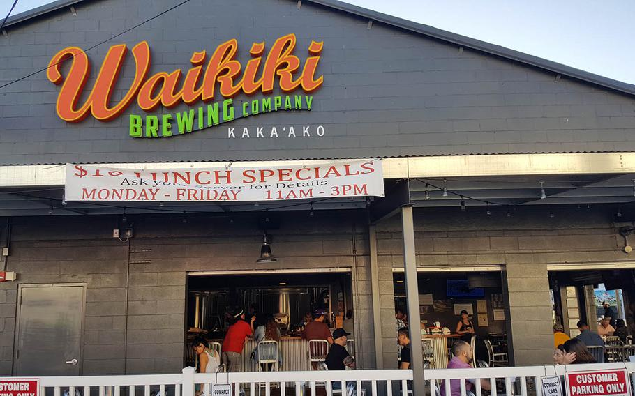 A Saturday afternoon at the Waikiki Brewing Co. in Honolulu.