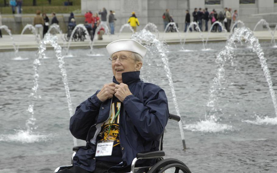 A World War II veteran sailor at the Memorial.