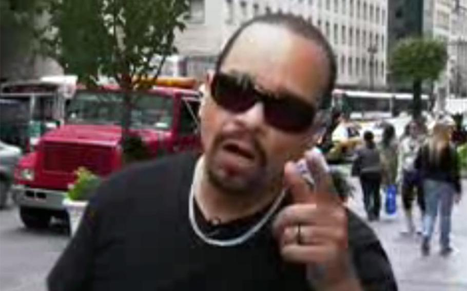 """Ice T: Rapper (actor, musician, reality TV star): Tracy Lauren Marrow, seen here in a public service announcement for the New York City Office of Emergency Management, served in the U.S. Army 25th Infantry from 1979-83. The Grammy Award winner told CNN in 2012: """"Nothing but respect to the soldiers coming home from the war,"""" he said. """"As far as something I can tell them to do, this might sound cold, but don't expect anybody to care. Don't expect that because you're a GI, you're going to come home and somebody's going to open up their hands up to you. You just gonna have to bust your a** from the ground up, unfortunately."""" (http://edition.cnn.com/2012/06/15/showbiz/celebrity-news-gossip/ice-t-ireport-documentary)"""