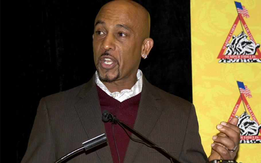 """Montel Williams (talk show host, radio and TV personality): Williams enlisted in the U.S. Marine Corps and was later accepted into the U.S. Naval Academy, graduating in the class of 1980. The former Naval intelligence officer retired after 22 years of service. Despite being diagnosed with multiple sclerosis in 1999, Williams routinely visits military bases in support of troops and has served meals to wounded warriors at Bethesda, Md. """"I spent every single day I could trying my best at the time I was on active duty thinking that I was in every hot spot we had,"""" Williams has said. In 2008, Williams received the Navy's Superior Public Service Award, the service's second highest award presented to civilians."""
