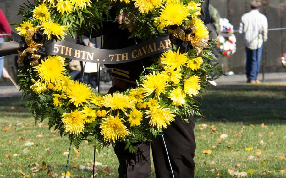 Veterans Day 2013 at The Vietnam Veterans Memorial in Washington, D.C.