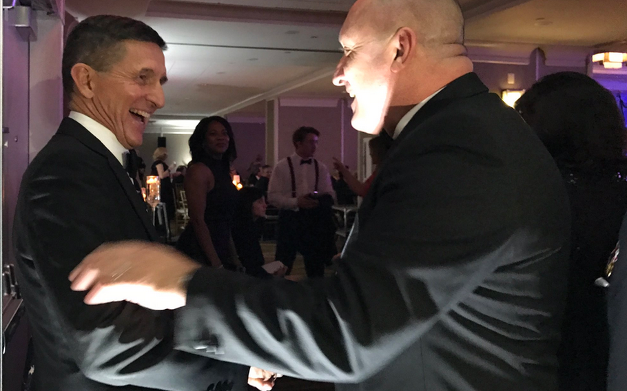National Security Advisor Michael Flynn at the Veterans Inaugural Ball: Salute to Heroes in Washington, D.C., Jan. 20, 2017.