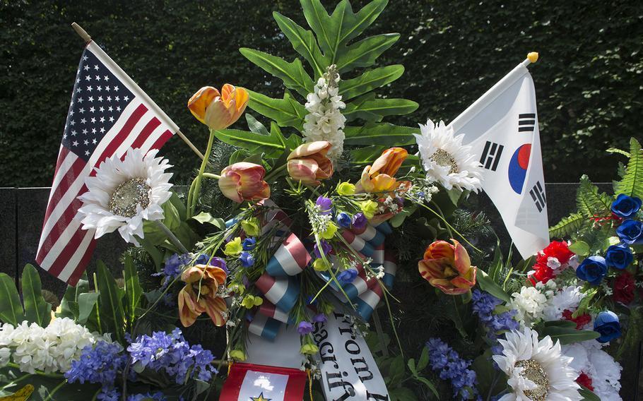 Korean War Memorial on Memorial Day, May 29, 2017.