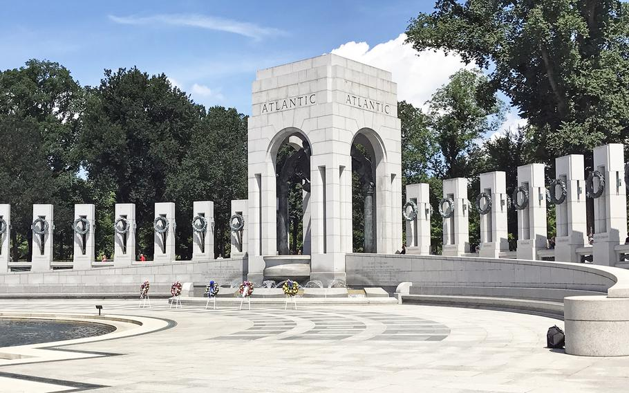 The 73rd commemoration of D-Day at the World War II Memorial in Washington, D.C., on June 6, 2017.