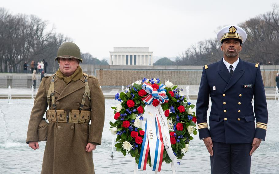 As part of the World War II Memorial's Battle of the Bulge 75th Anniversary Commemoration, a wreath-laying with representation from Allied nations took place on December 16, 2019.