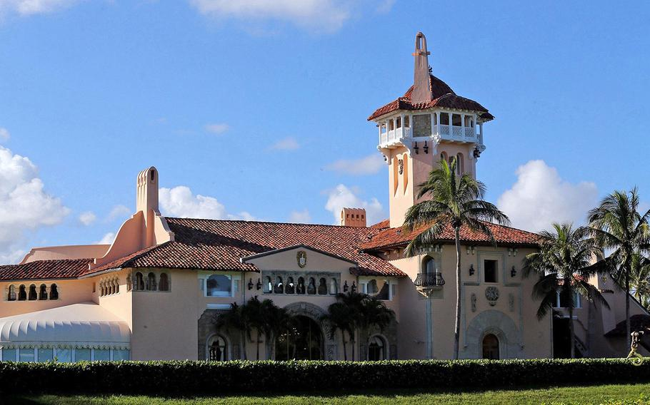 President Donald Trump's Mar-a-Lago resort in Palm Beach, Fla., is seen in an undated photo.