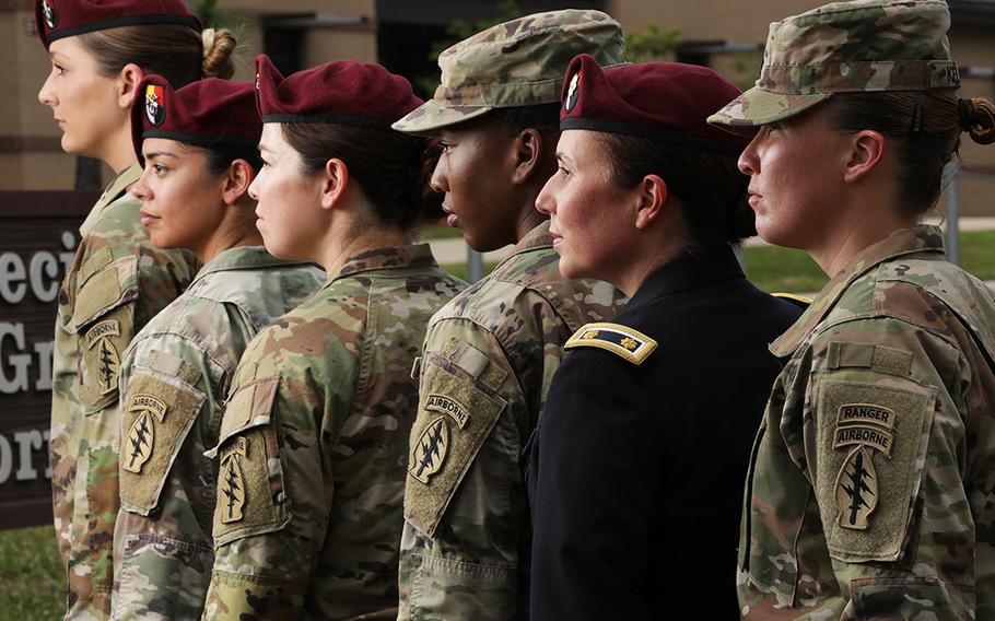 In celebration of Women Veterans Day, June 12, 2020, 3rd Special Forces Group (Airborne) paid tribute to female soldiers, past and present who have supported the group's mission.