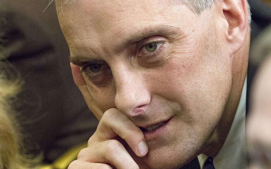 Denis McDonough, 51, at a White House ceremony in 2014, served as deputy national security adviser under President Barack Obama and later took the job as Obama's chief of staff.