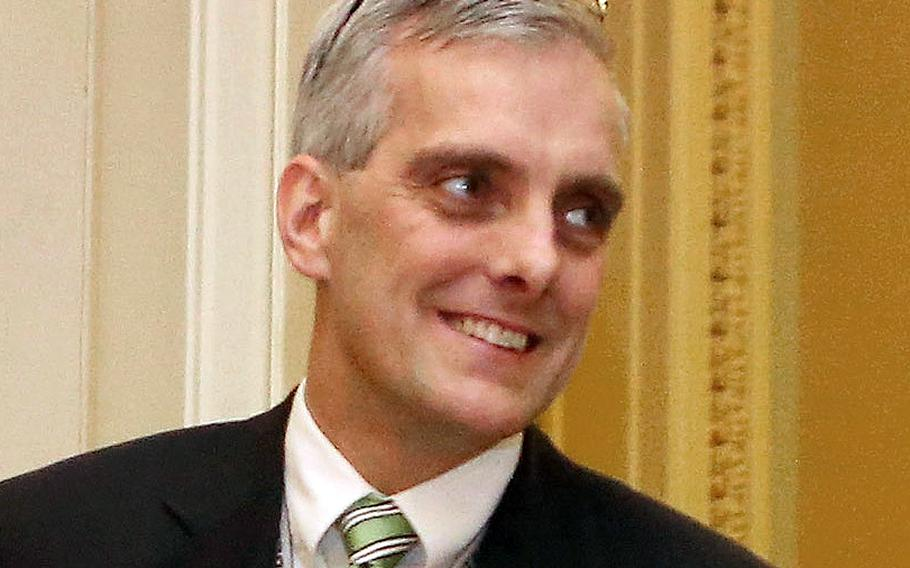 White House Chief of Staff Denis McDonough, at a meeting with members of the Senate Democratic Caucus at the U.S. Capitol in March, 2013.