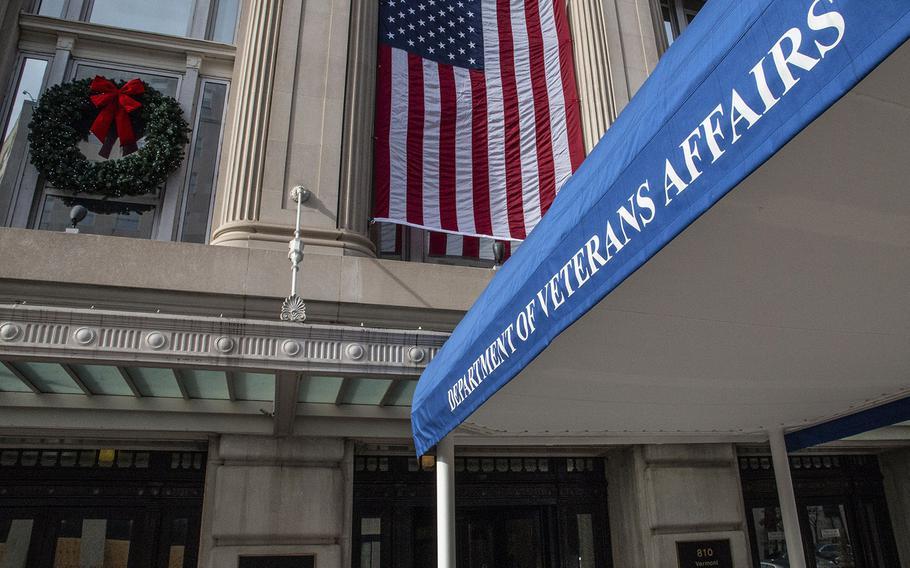 The Department of Veterans Affairs headquarters in Washington, D.C., in December, 2020/