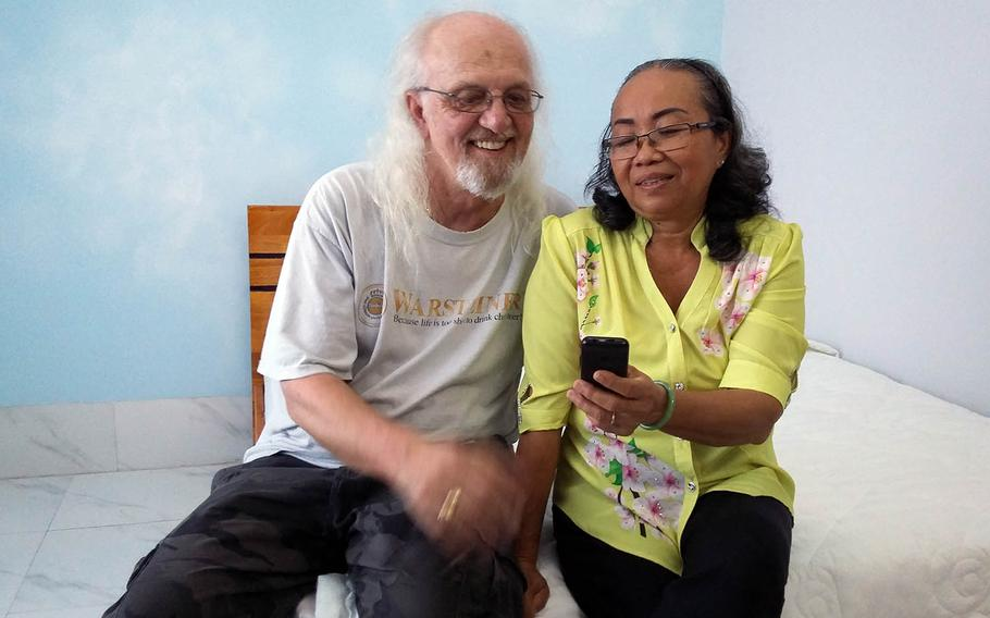Air Force veteran Jim Reischl reunited in 2016 with Nguyen Thi Hanh, the pregnant girlfriend he left behind in 1970 after a tour to Tan Son Nhut Air Base, Vietnam.