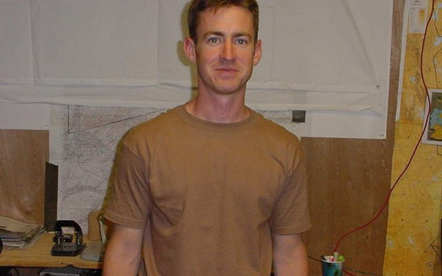 Then-Air Force 1st Lt. Brian Liebenow at Kandahar Air Base in Afghanistan in 2002, where he was serving with the 23rd Special Tactics Squadron. A year earlier, Liebenow was at Karshi-Khanabad Air Base in Uzbekistan.