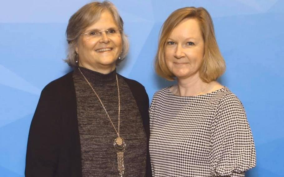 Mary Hahn Ward and Jennifer Mackinday, both family caregivers of wounded veterans, host a podcast, ''This Caregiver Life,'' that talks about the challenges of caring for loved ones.