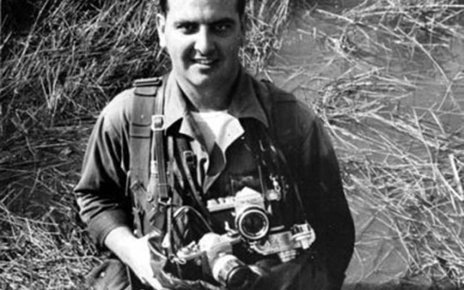 Steve Stibbens poses for a photo in Vietnam while serving there as a war correspondent for Stars and Stripes.