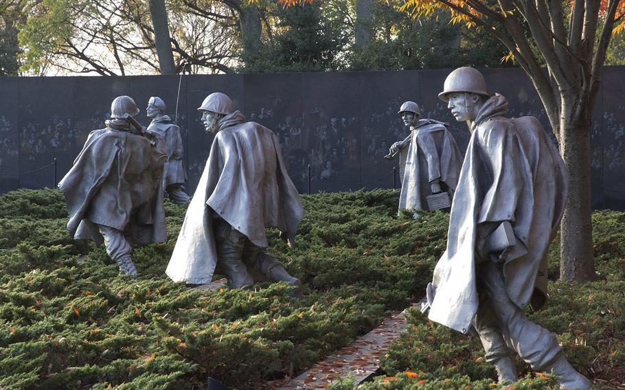 Veterans Day 2014 at the Korean War Memorial in Washington, D.C.